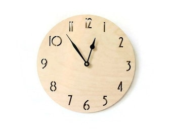 Wall Clock, Ready To Ship, Wood Clocks, Unique Wall Clock, Decor and  Housewares, Home Decor