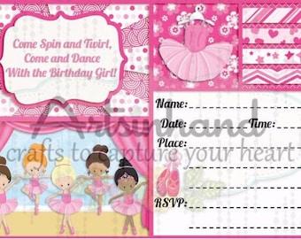 Ballerina v2 Birthday Invitation