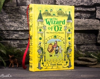 Hollow Book Safe - The Wizard of Oz (LEATHER-BOUND) – Modern Classic – Hollowed Out Book – Magnetic Snap Closure