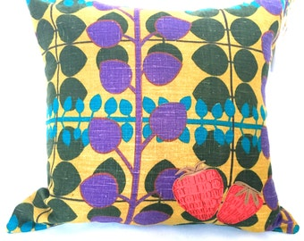 "SALE: Garden Variety ""Strawberries"" Throw Pillow"