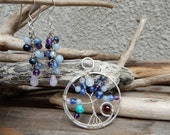 Goddess Tree of Life set with earrings in Silver