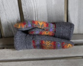 Child 6 to 10yrs Wool Mittens, Sweater Mittens, Upcycled Wool Sweater Mittens, Fleece Lined, Inspiring Dreams