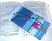 On SALE Eye Glasses Case - Spectacles Protective Case - Cotton Canvas - Button Closure.- UK Seller