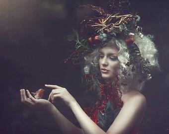 READY TO SHIP fairy nymph goddess headdress headpiece gaga burlesque costume