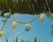 Lt. Blue Seashell Seashell Garland for your Beach Wedding Decor - 7 ft.