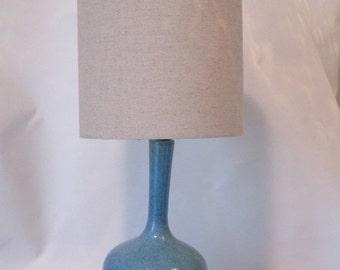 MOVING SALE Vintage Ceramic Speckled Turquoise Desk Lamp