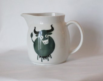 Arabia of Finland Large Cow/Bull Pitcher. 1950s-1960s.