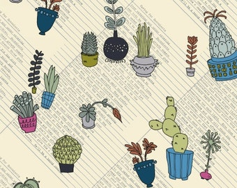 Succulents (Multi) - Succulents - Heather Givans - Windham Fabrics - 1 Yard