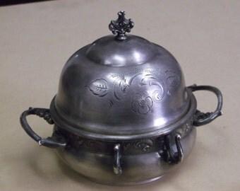 Vintage Rockford Quadruple Silverplate Butter Dish