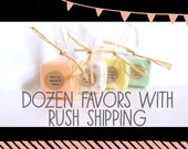 RUSH SHIPPING: Dozen Soap Favors