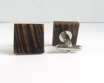 Wood Cufflinks | Wooden Cufflinks | Wedding Cufflinks