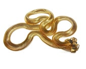 "Gold snake chain, men's or women's, 17"" inch, wide oval classic wardrobe staple"