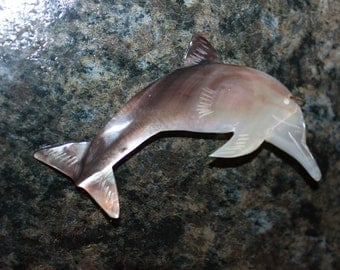 Large Mother of Pearl Dolphin Pendant