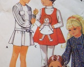 Me and my Pal Raggedy Ann Dress or Jumper pattern with Doll pattern McCalls 2530