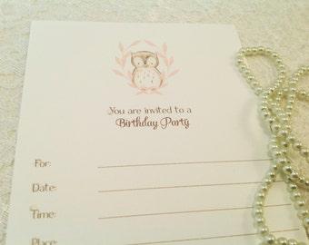 Birthday Party Invitations-First Birthday Party-DIY Invitations--Set of 10