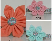 Mint Green Pink or Coral Dog Flower Wedding Accessories Made to Order