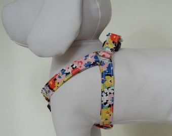 Pink Floral Step-In Harness Made to Order