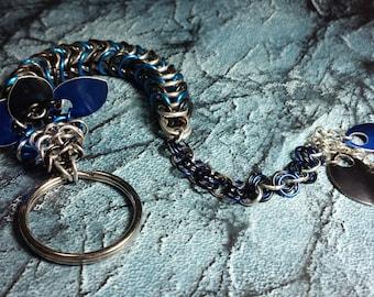 Blue and Black Dragon Keychain