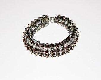 Beaded Transparent Cuffs Bracelet
