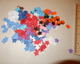 Paper Die cuts:  200  Stars in assorted colors