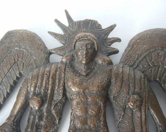 Avant Garde Figural Man Wall Sculpture