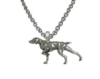Pointer Dog Pendant Necklace