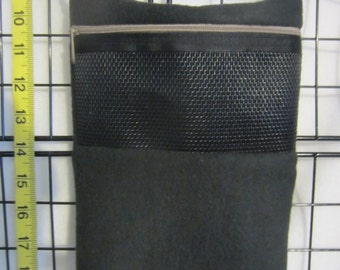 Sugar Glider Cage Set Zippered Bonding Pouch - Travel Bag - Black
