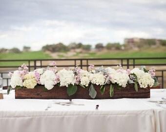 "Rectangular Box, Wedding Centerpiece 36""L box,Decor, Wooden Box, Center Piece, Wedding Decor, Wooden Planter Box"