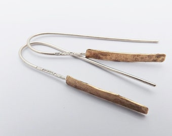 silver earrings/ 9ct gold earrings/ drop earrings