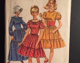 Simplicity Sewing Pattern 60s 6832 Misses Dress, Bonnet and Waist Cincher Size 16