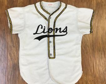 RESERVED!!!!! Classic 1950's Lions baseball uniform shirt