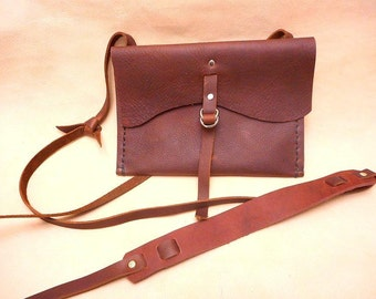 Cross shoulder Pouch-Kodiak Leather