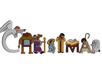 Christmas Nativity Machine Embroidery Design