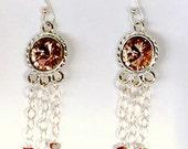 Dream Catcher Handmade Chandelier Earrings Vintage Rose Earrings