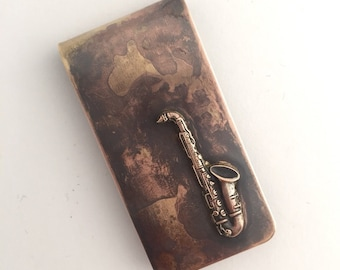 Saxaphone Money Clip