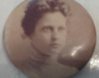 Antique Photo Pin  of Woman