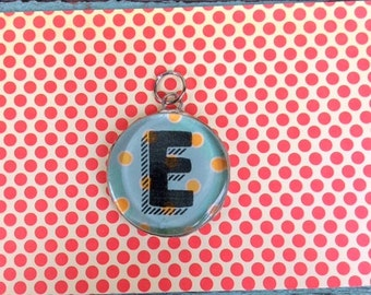 Soldered Initial E Glass Pendant for necklace