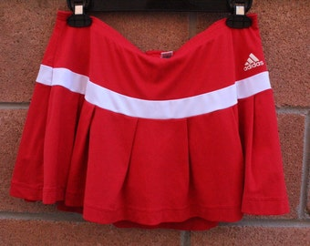 Red adidas womens tennis sports skirt