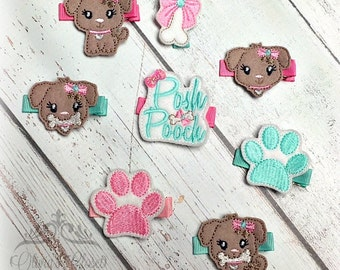 puppy Hair Clip Posh Pooch Line Pick your design, which side, single/ pair/ or one of each design!