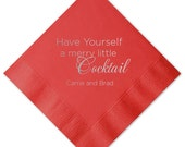 Have Yourself a Merry Little Cocktail Personalized Beverage/Cocktail Napkins