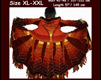 Elf coat, size XL, size XXL, elf sweater, pixie coat, hoodie, costume, gypsy sweater, patchwork coat