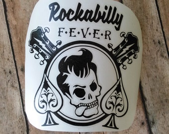 Rockabilly Vinyl Decal | Greaser Decal | Rockabilly Decal | Laptop Decal | Vinyl Decal | Mirror Decal | Notebook Decal | Glass Decal