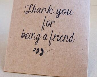 Thank You for Being a Friend Golden Girls Kraft CD Sleeve Favor -  Sample