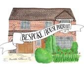 Custom Watercolour House Illustration for Emma
