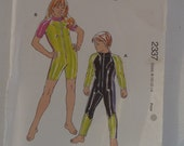 wetsuit sewing pattern boys and girls childrens wetsuits Kwiksew 2337 rashsuit surf suit