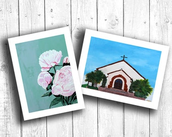 Birthday Card, Greeting Card, Blank Card, Handmade Card, Painting Print, choose any (2) paintings in card format!