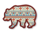 Bear Applique Embroidery Design forest applique, bear silhouette embroidery, animal AN020