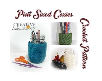 PDF Crochet Mason Jar Cozy, Pint Ball Jar Cozy Pattern, Mason Jar Cozy, Canning Jar Cover Pattern, Jar Sleeve Pattern, Crochet Tutorial