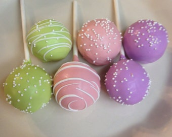 Birthday Cake.. Cake Balls Or Cake Pops  Gift  Box 1 Dozen  or any Occasion