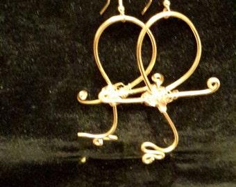 Ank brass earrings